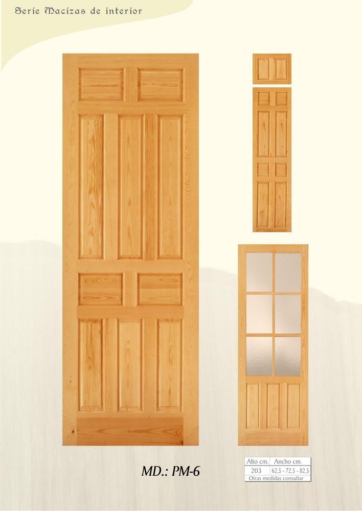 Puertas de interior macizas puertas de madera maciza - Manillas para puertas de interior ...