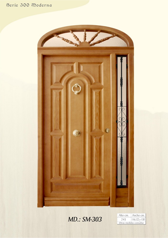 Puertas de madera exterior modernas dise os for Puertas interiores modernas