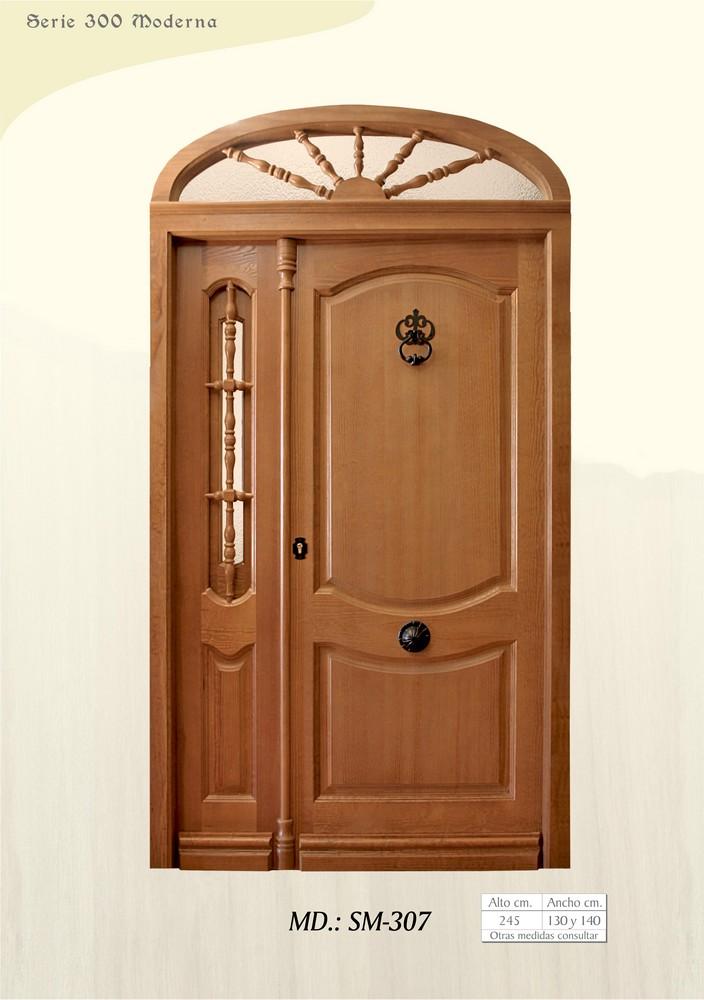 Puertas de madera exterior modernas simple m puerta for Puerta principal madera moderna