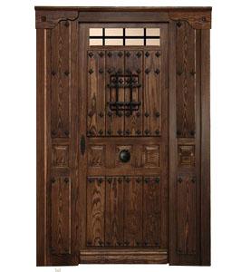 Puertas de calle r sticas puertas de exterior rusticas for Puertas de chapa para exterior