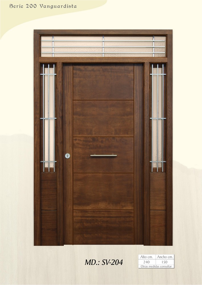 Puertas de calle vanguardistas puertas de exterior - Puertas de calle de madera ...