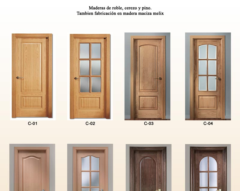 Puertas de interior cl sicas puertas de pino puertas for Puertas de roble interior